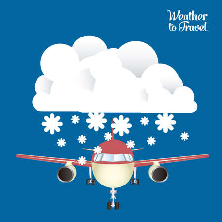 Illustration of airplane icons. Weather for flying. vector illustration Stock Vector - 17888685