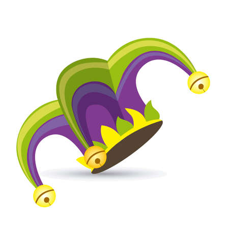 idiot box: Illustration of a jester hat. April Fools Day. vector illustration