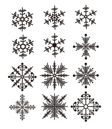 Illustration of snowflake. Illustration of winter illustration Stock Vector - 18074918