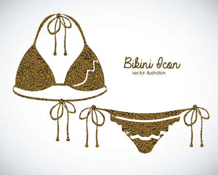 Illustration of bikini icon. Swimsuit two pieces illustration Stock Vector - 18075386