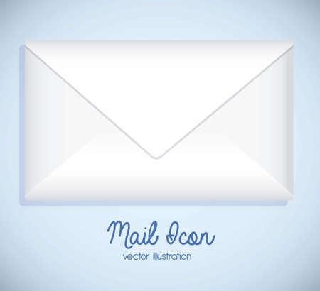 Illustration mail icon. illustration of letter mail illustration Stock Vector - 18074682