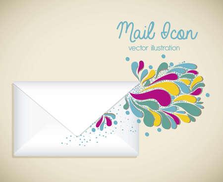 Illustration mail icon. illustration of letter mail illustration Vector