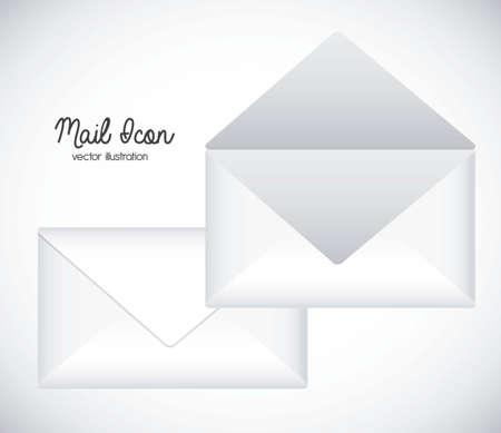 Illustration mail icon. illustration of letter mail illustration Stock Vector - 18074459