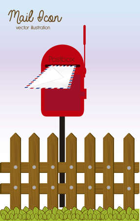 Illustration mail icon. illustration of mailbox illustration Vector