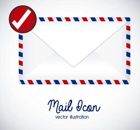 Illustration mail icon. illustration of letter mail illustration