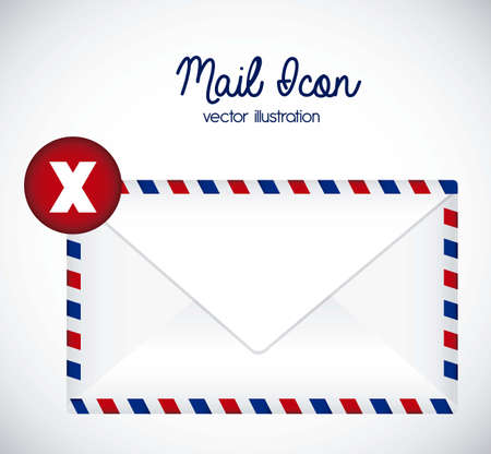 Illustration mail icon. illustration of letter mail illustration Stock Vector - 18074686