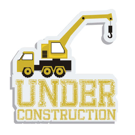Illustration of under construction, Construction Icons, Site, worker, tools illustration Stock Vector - 18075275