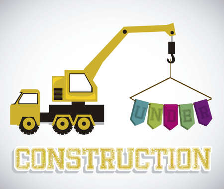 Illustration of under construction, Construction Icons, Site, worker, tools illustration Vector
