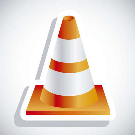 Illustration of orange traffic cones on white background illustration Stock Vector - 18074454