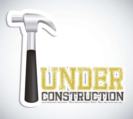building security: Illustration of under construction, Construction Icons, Site, worker, tools illustration Illustration