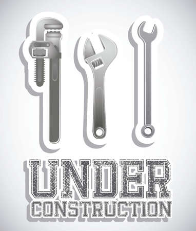 Illustration of under construction, Construction Icons, Site, worker, tools illustration Stock Vector - 18075381