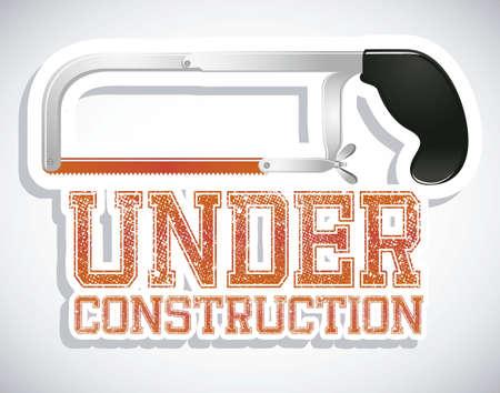 warning saw: Illustration of under construction, Construction Icons, Site, worker, tools illustration Illustration