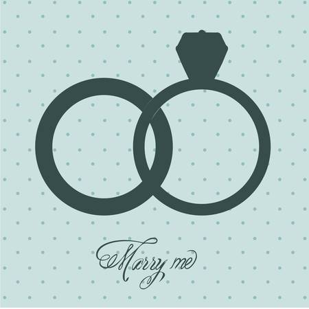 Illustration of Wedding Icons and Concepts Wedding, engagement rings, vector illustration Vector