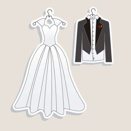 Illustration of Wedding Icons and Concepts Wedding, vector illustration Vector