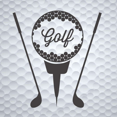 golf club: Illustration of golf icons, illustrations of sports and games, vector illustration