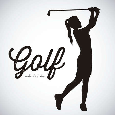 black hole: Illustration of golf icons, illustrations of sports and games, vector illustration