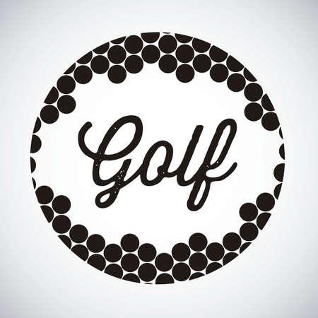 gaten: Illustratie van golf iconen, illustraties van sport en spel, vector illustration