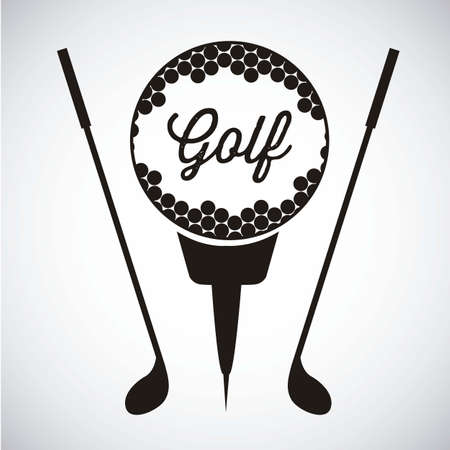 Illustration of golf icons, illustrations of sports and games, vector illustration Vector