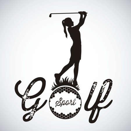 Illustratie van golf iconen, illustraties van sport en spel, vectorillustratie