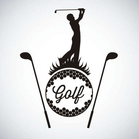 golfer: Illustration of golf icons, illustrations of sports and games, vector illustration