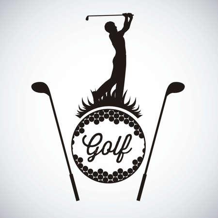 Ilustración de los iconos de golf, ilustraciones de deportes y juegos, ilustración vectorial