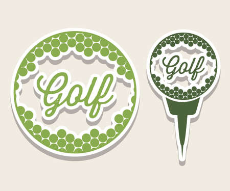 putter: Illustration of golf icons, illustrations of sports and games, vector illustration