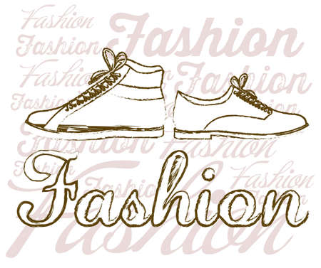 Illustration of fashion icons, fashion shoes, vector illustration Stock Vector - 18335035