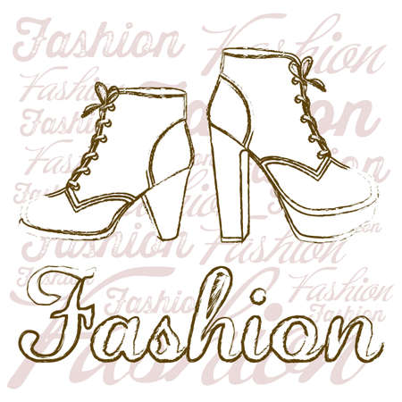 Illustration of fashion icons, fashion shoes, vector illustration Stock Vector - 18335032