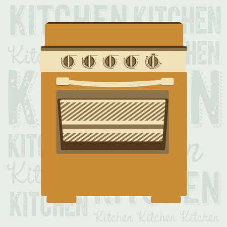 electricals: Illustration of kitchen appliances. illustration of a stove. vector illustration Illustration