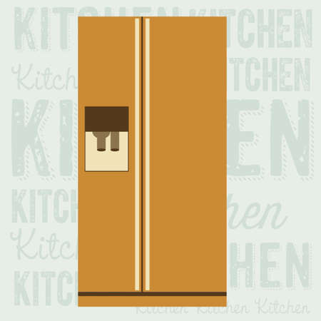 electricals: Illustration of kitchen appliances. illustration of a large fridge. vector illustration