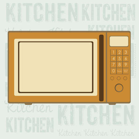 electricals: Illustration of kitchen appliances. illustration of a microwave. vector illustration Illustration