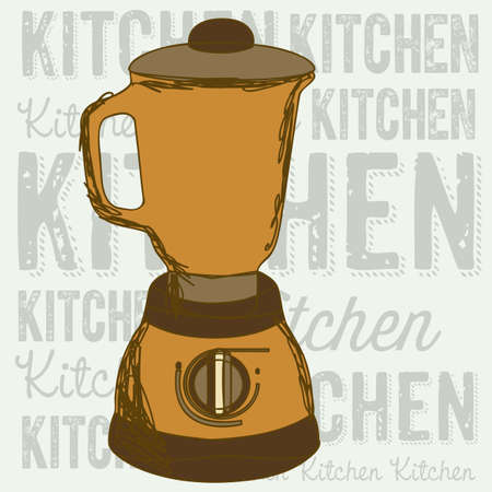 electricals: Illustration of kitchen appliances. illustration of a blender. vector  Illustration
