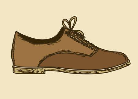 calzado de seguridad: Ilustraci�n de los iconos de la moda, zapatos de moda, ilustraci�n vectorial