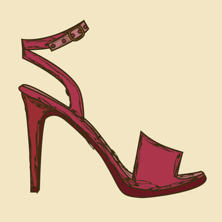 allure: Illustration of fashion icons, fashion shoes, vector illustration