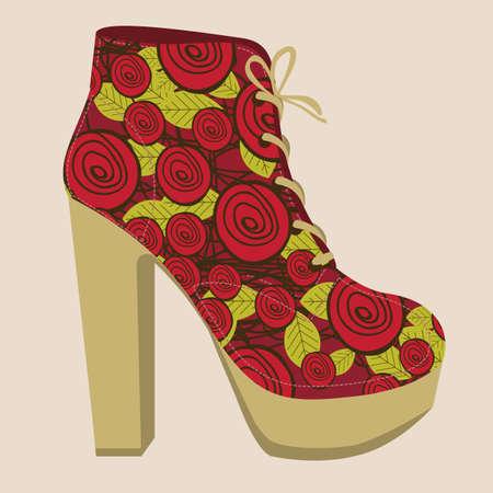 entice: Illustration of fashion icons, fashion shoes, vector illustration