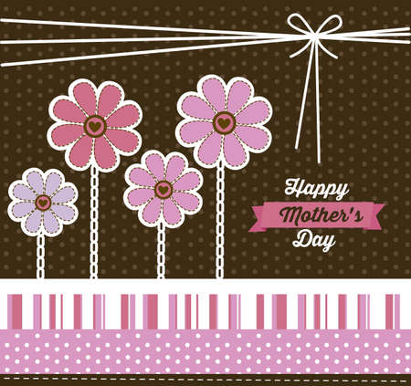 Illustration of the celebration of Mothers Day, vector illustration Vector