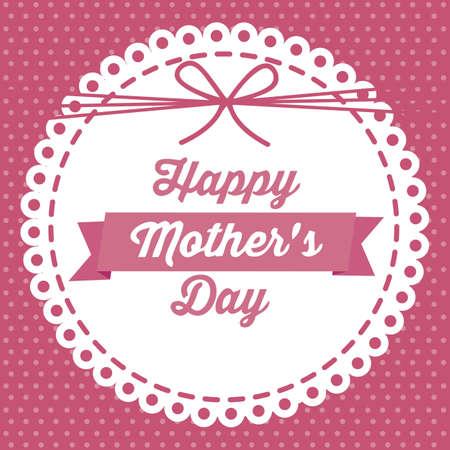 mums: Ilustraci�n de la celebraci�n del D�a de la Madre, ilustraci�n vectorial