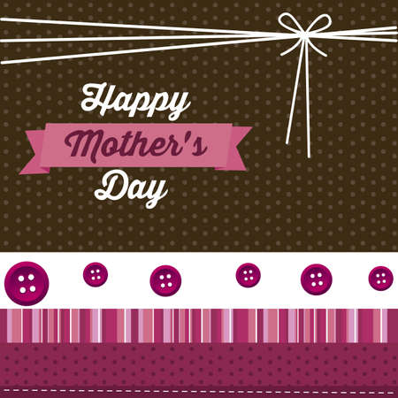 maternal: Illustration of the celebration of Mothers Day, vector illustration