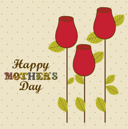mama: Illustration of the celebration of Mothers Day, vector illustration