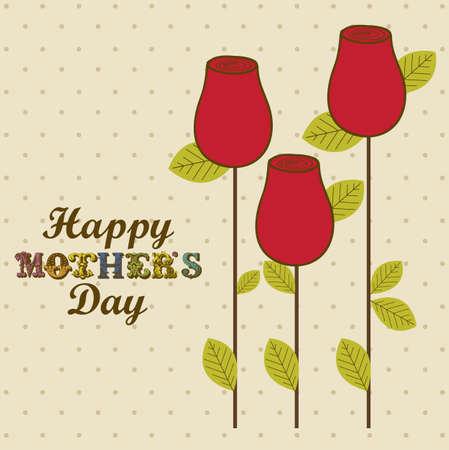 Ilustración de la celebración del Día de la Madre, ilustración vectorial