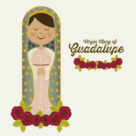 Religieuze Illustratie uit de maagd Maria, de moeder van Jezus Christus, vector illustration Vector Illustratie