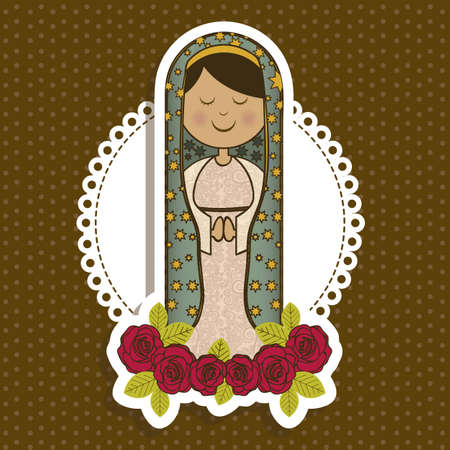dogma: Religious Illustration from the Virgin Mary, mother of Jesus Christ, vector illustration