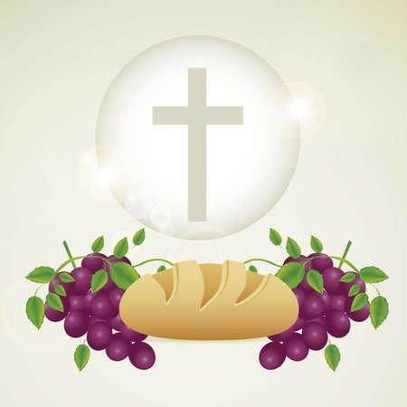 Illustration de Jésus-Christ, l'Eucharistie et le sacrement de la communion, illustration vectorielle Banque d'images - 18556259