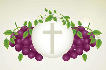 eucharistie: Illustration de J�sus-Christ, l'Eucharistie et le sacrement de la communion, illustration vectorielle