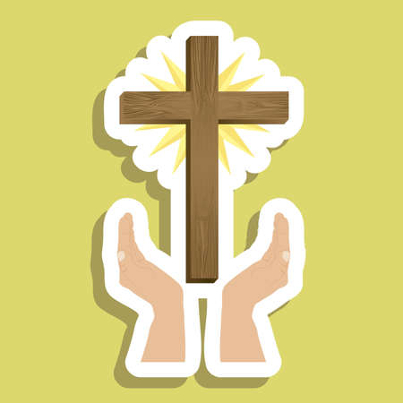 Religious Illustration, Cross of Our Lord Jesus Christ, vector illustration Illustration