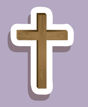 Religious Illustration, Cross of Our Lord Jesus Christ, vector illustration Stock Vector - 18556006