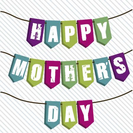 festones: Ilustraci�n de la celebraci�n del D�a de la Madre, ilustraci�n vectorial