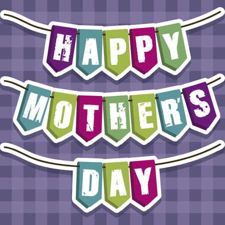 festoons: Illustration of the celebration of Mothers Day, vector illustration