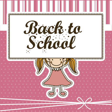 festoons: Illustration of back to school, school supplies, vector illustration Illustration