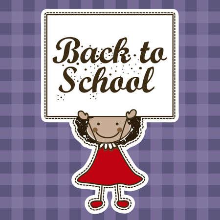 festoons: Illustration of back to school, school supplies, vector illustration Illustration
